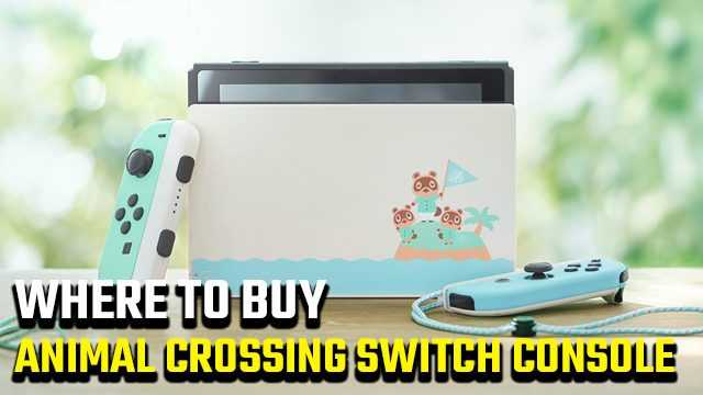ANIMAL CROSSING NEW HORIZONS SWITCH CONSOLE RESTOCK WHERE TO BUY