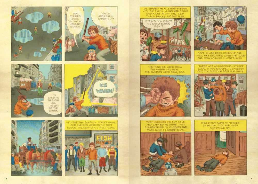 Jack Kirby recounts the street gang he ran with as a child, in Jack Kirby: The Epic Life of the King of Comics, Penguin Random House (2020).