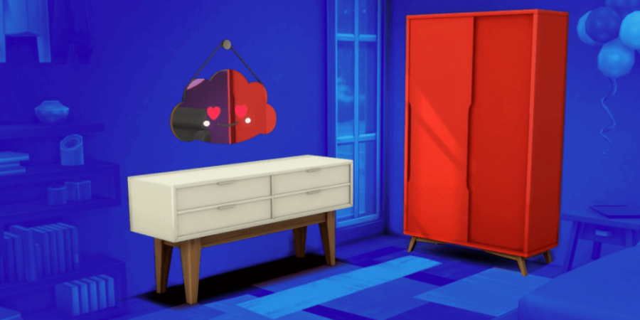 The bedroom set included in the Sims' Anniversary Update.