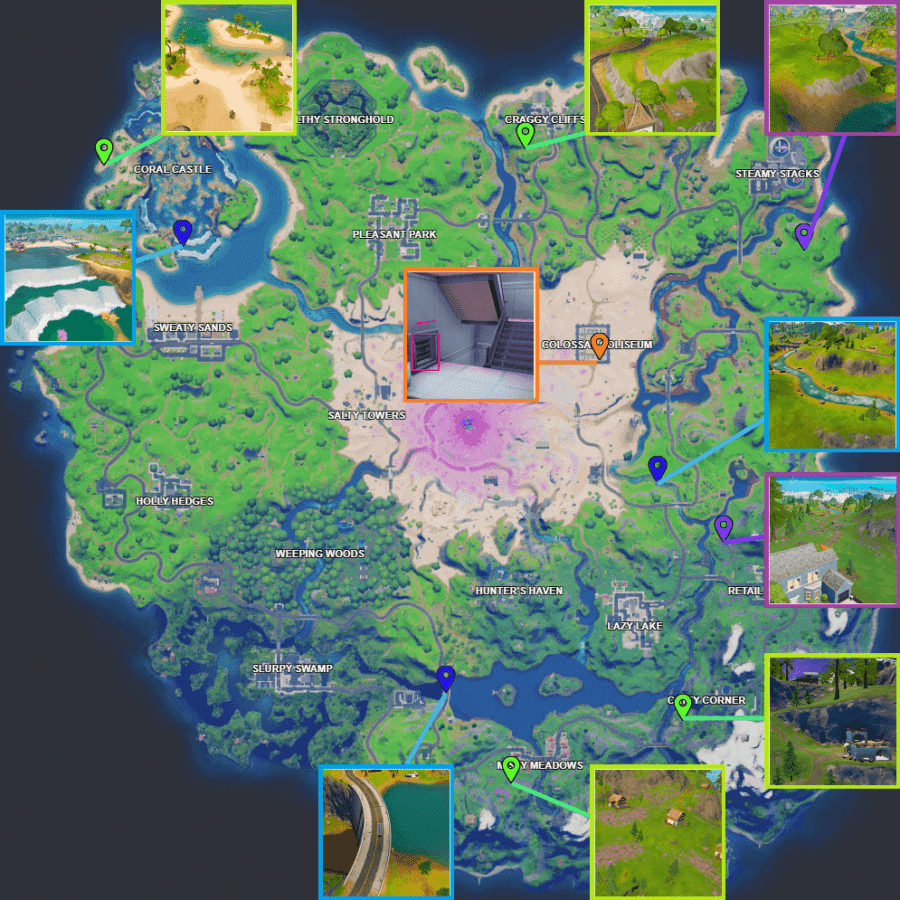 All coin locations for Fortnite Week 13.